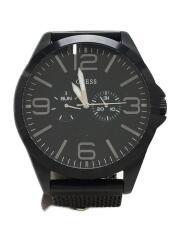 ゲス/クォーツ腕時計/アナログ/ステンレス/BLK/BLK/W0180G2