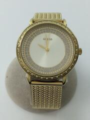 ゲス/クォーツ腕時計/アナログ/WHT/GLD/W0836L3