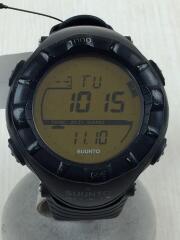 クォーツ腕時計/デジタル/ラバー/BLK/ALTIMAX
