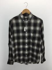 チェックパターンB.Dシャツ/M/コットン/BRW/チェック