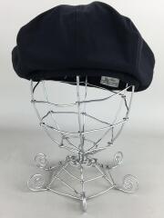 ベレー帽/57/ポリエステル/BLK/無地
