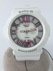 クォーツ腕時計・Baby-G/デジアナ/WHT/WHT/海外モデル