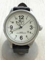 クォーツ腕時計/アナログ/レザー/H0225/VACCHETT/ベルト使用感有