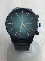 クォーツ腕時計/VD57-KJD0/クロノグラフ/アナログ/BLU/BLK