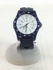 クォーツ腕時計/アナログ/レザー/WHT/NVY//  ×Ron Herman TW2R11300