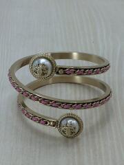 バングル/Pewter & Pink Leather Chain Wrap Arm Bracele/--/GLD//ブレスレット