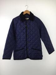 キルティングジャケット/36/ポリエステル/BLU