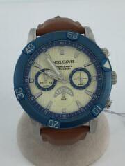クォーツ腕時計/アナログ/レザー/BRW/BR43