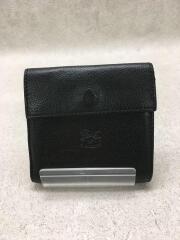 2つ折り財布/レザー/BLK/イルビゾンテ