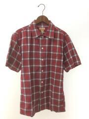 半袖シャツ/--/コットン/RED/チェック/OMBRE CHECK OPEN SHIRTS/25499