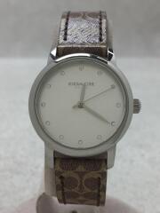 クォーツ腕時計/アナログ/レザー/BRW/ベルトシグネチャー柄/CA 113 7 14 1639