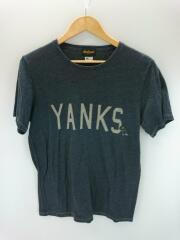 Tシャツ/M/ポリエステル/GRY/USA製/YANKS/JM5217
