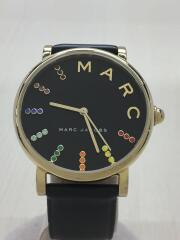 クォーツ腕時計/アナログ/レザー/BLK/BLK/MJ1591