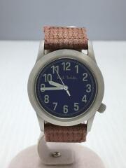 クォーツ腕時計/6038-G13133TA/アナログ/ネイビー/ブラウン