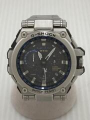 カシオ/ジーショック/ハイブリット電波ソーラー腕時計・G-SHOCK/アナログ/ブラックxシルバー