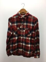 ネルシャツ/M/コットン/RED