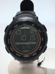 クォーツ腕時計/デジタル/ラバー/BLK/VECTOR