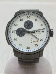 クォーツ腕時計/アナログ/ステンレス/ホワイト/シルバー