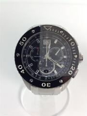 クロノオフショア-1 CHRONOGRAPH BIG DATEクォーツ腕時計/アナログ/ステンレス/B