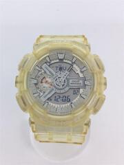 クォーツ腕時計/デジアナ/ラバー/SLV/GA-110CR