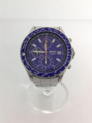 クォーツ腕時計/アナログ/ステンレス/ブルー/シルバー/パイロットクロノグラフ/7T92-0CF0