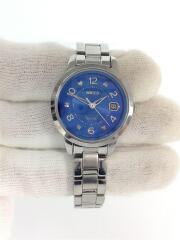 ソーラー腕時計/ステンレス/BLU/V137-0CM0/シルバー