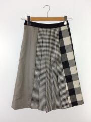 スカート/34/コットン/GRY/チェック/ギルドプライム/72S85-717-09