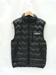 adidas/アディダス/キルティングベスト/S/ポリエステル/BLK/無地