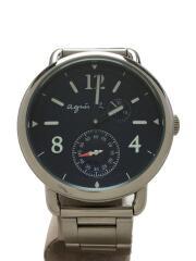 アニエスベー/クォーツ腕時計/アナログ/ステンレス/NVY