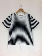 Tシャツ/4/コットン/WHT/ボーダー