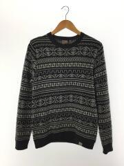 セーター(厚手)/S/ウール/グレー/総柄/カーハート