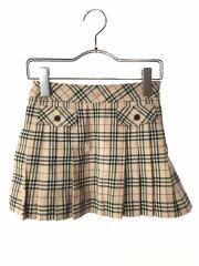 スカート/110cm/ウール/ベージュ/チェック/バーバリーロンドン