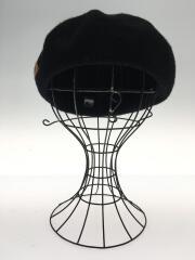 ベレー帽/58cm FREE/ウール/BLK