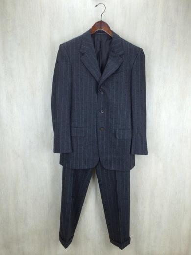 size 40 5457f f3007 スーツ/--/ウール/GRY/ストライプ