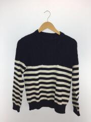 セーター(薄手)/S/ウール/BLK/ボーダー/SOPH-167113
