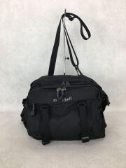 ショルダーバッグ/ポリエステル/BLK/内側ベタ付、劣化有/ウエストバッグ