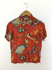 半袖シャツ/--/レーヨン/RED/総柄/BEAMS BOY別注/アロハシャツ