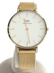 クォーツ腕時計/アナログ/ステンレス/WHT/GLD/CLASSIC MELROSE/DW00100163