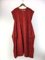 半袖ワンピース/38/コットン/RED/B0128XFA015/刺繍
