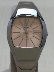 クォーツ腕時計/アナログ/ステンレス/PNK/SLV