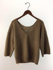セーター(厚手)/FREE/アクリル/BRW/無地/11610503