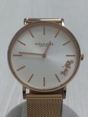 クォーツ腕時計/アナログ/--/GLD/14503425/PERRY
