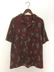 半袖シャツ/XL/ポリエステル/BRD/総柄/Leaves Pattern Shirt