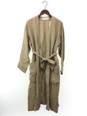 コート/36/リネン/BEG/無地/Linen Gown Coat