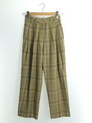 ボトム/36/ウール/GRN/チェック/20SS/Check Tuck Pants/12070714