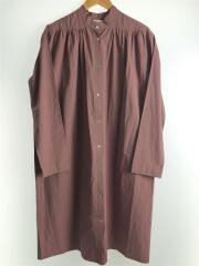 シャツワンピース/36/コットン/PNK/無地/11920303/19AW/Gather Shirts Dress