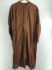 長袖ワンピース/36/コットン/BRW/12010305/20SS/Silk Stitch Dress/シルク混