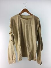 Sleeve Slit Long T-Shirts/FREE/コットン/KHK/無地/12010614