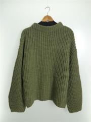 セーター(厚手)/FREE/ポリエステル/GRN/19AW/Oversize Braid Knit