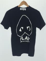 AD2019 逆さハートTシャツ/M/コットン/BLK/プレイコムデギャルソン